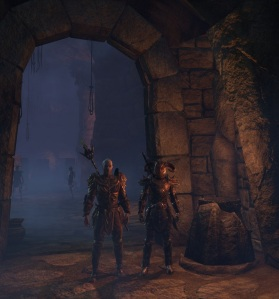 Tamriel Foundry Member and Guildmate of mine taking selfies in a Draugr tomb.