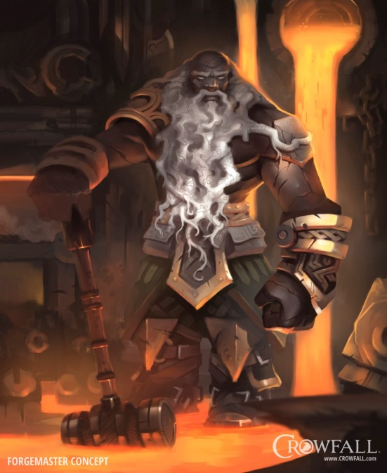 I suspect the Forgemaster may have crafting bonuses, but this is wild and unfounded speculation.