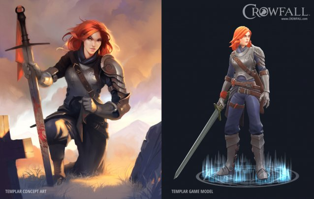 Crowfall - Templar Art vs Model