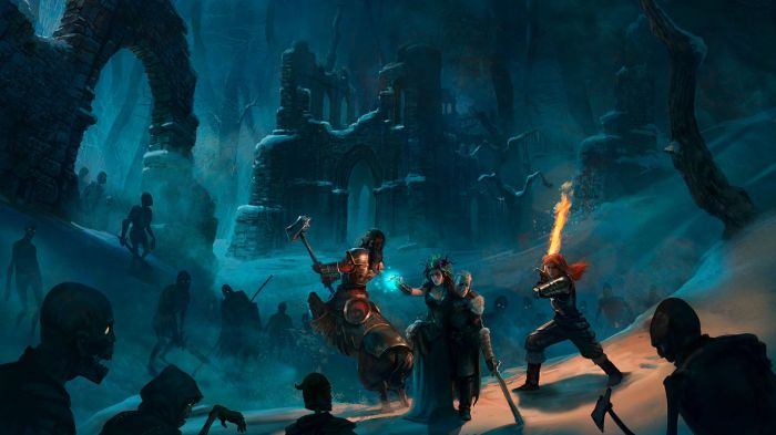 Crowfall Surrounded Adventurers